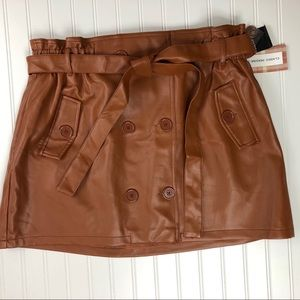 Forever 21 plus faux leather skirt. Size 2X